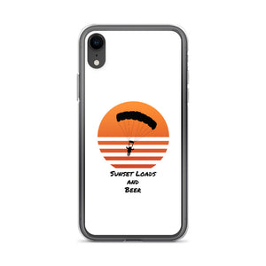 D7 - Sunset Loads and Beer Skydiving iPhone Case