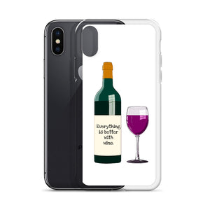 B3 - Everything is better with wine iPhone Case
