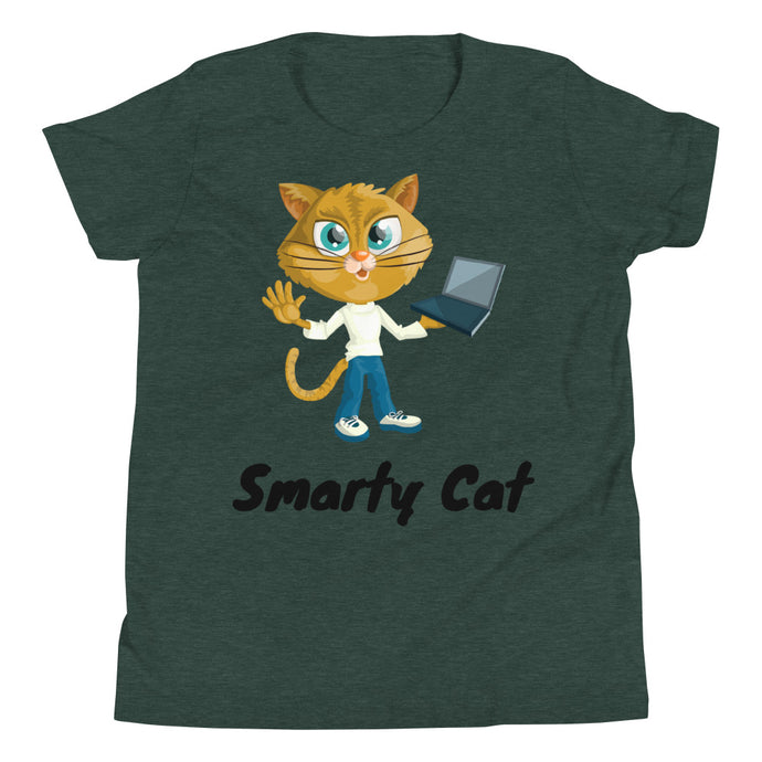 Y2 - Smarty Cat Youth Short Sleeve T-Shirt