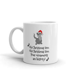 H - Funny Christmas Tree Cat Mug