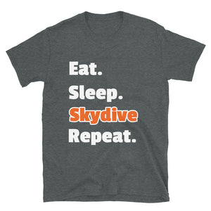D7 - Eat Sleep Skydive Repeat Short-Sleeve Unisex T-Shirt