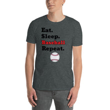Load image into Gallery viewer, D6 - Eat Sleep Baseball Repeat Short-Sleeve Unisex T-Shirt