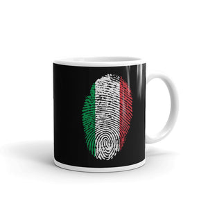 F1 - Italian Flag Fingerprint  Mug