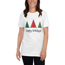 Load image into Gallery viewer, H - Happy Holidays Christmas Tree Short-Sleeve Unisex T-Shirt
