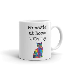 A - Namaste' at home with my cat Mug