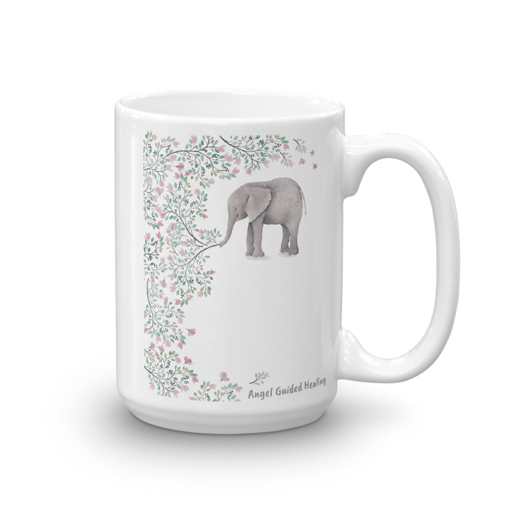 1- Angel Guided Healing - Healing Elephant Tree of Life Mug