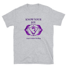 Load image into Gallery viewer, Angel Guided Healing - Know Your Joy Crown Chakra Short-Sleeve Unisex T-Shirt