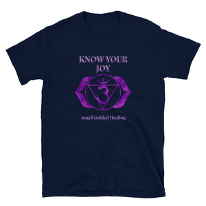 Angel Guided Healing - Know Your Joy Crown Chakra Short-Sleeve Unisex T-Shirt