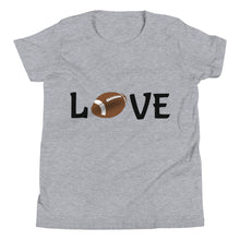 Load image into Gallery viewer, Y5 - Football Love Youth Short Sleeve T-Shirt