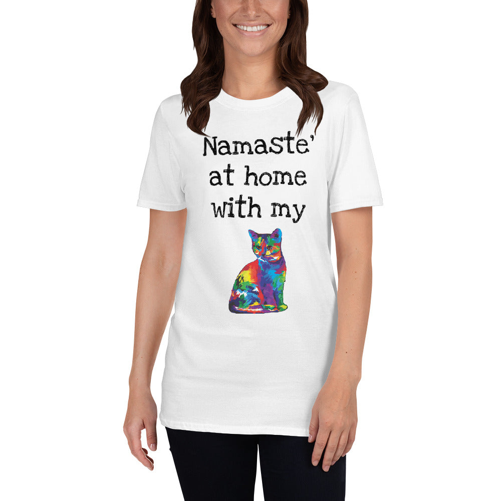 A - Namaste at home with my cat Short-Sleeve Unisex T-Shirt