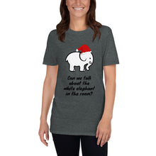 Load image into Gallery viewer, H - Funny White Elephant Christmas Short-Sleeve Unisex T-Shirt