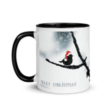 Load image into Gallery viewer, Christmas Bird Mug with Color Inside