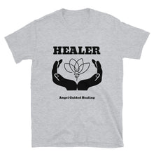 Load image into Gallery viewer, Angel Guided Healing - Healer Hands/Lotus Short-Sleeve Unisex T-Shirt