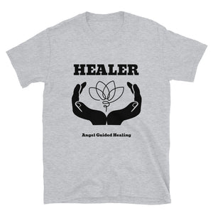 Angel Guided Healing - Healer Hands/Lotus Short-Sleeve Unisex T-Shirt