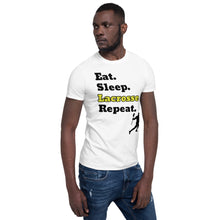 Load image into Gallery viewer, D6 - Eat Sleep Lacrosse Repeat Short-Sleeve Unisex T-Shirt