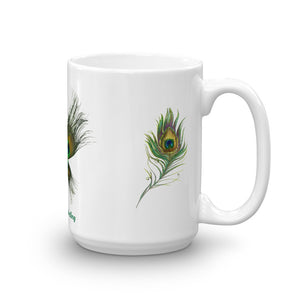 1- Angel Guided Healing - Peacock Feather Butterfly Mug