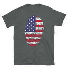 Load image into Gallery viewer, F - US Flag Fingerprint Short-Sleeve Unisex T-Shirt