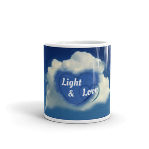 B - Light & Love Hearts Mug