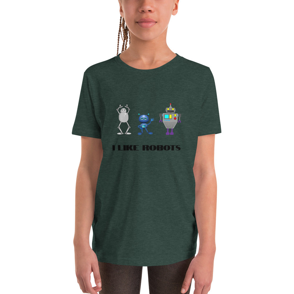 Y9 - I like robots Youth Short Sleeve T-Shirt