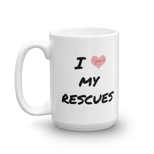 """I love my rescues"" Mug"