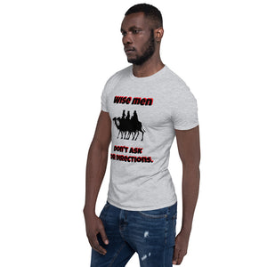 H - Wise Men Funny Holiday Short-Sleeve Unisex T-Shirt