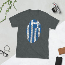 Load image into Gallery viewer, F3 - Greek Flag Fingerprint Short-Sleeve Unisex T-Shirt