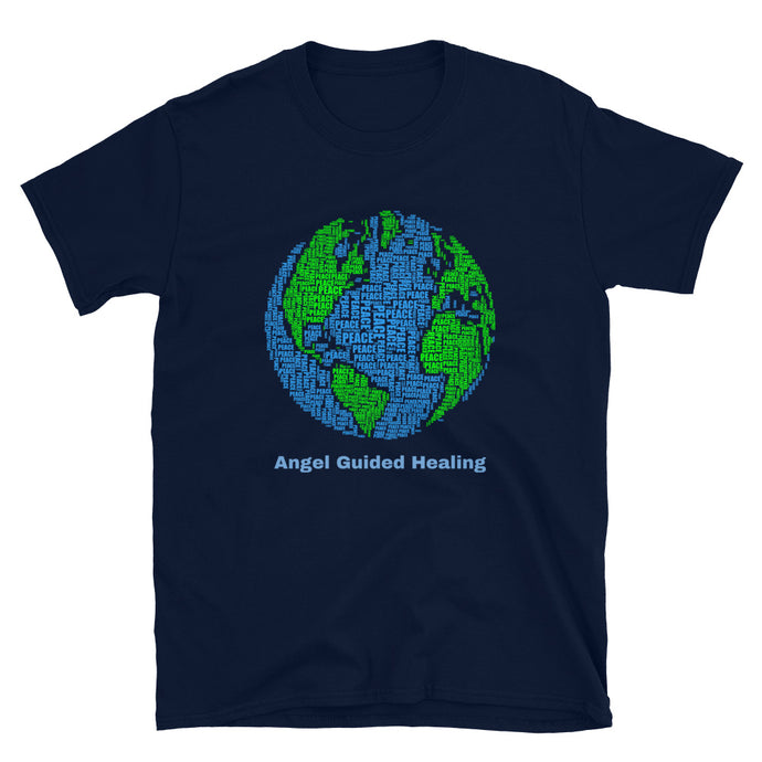 Angel Guided Healing - Peace on Earth Short-Sleeve Unisex T-Shirt