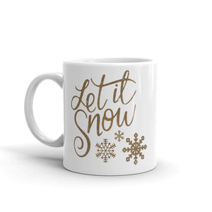 H - Let it Snow Gold Mug