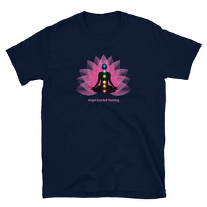 Angel Guided Healing - Healing Meditation Pink Lotus Short-Sleeve Unisex T-Shirt