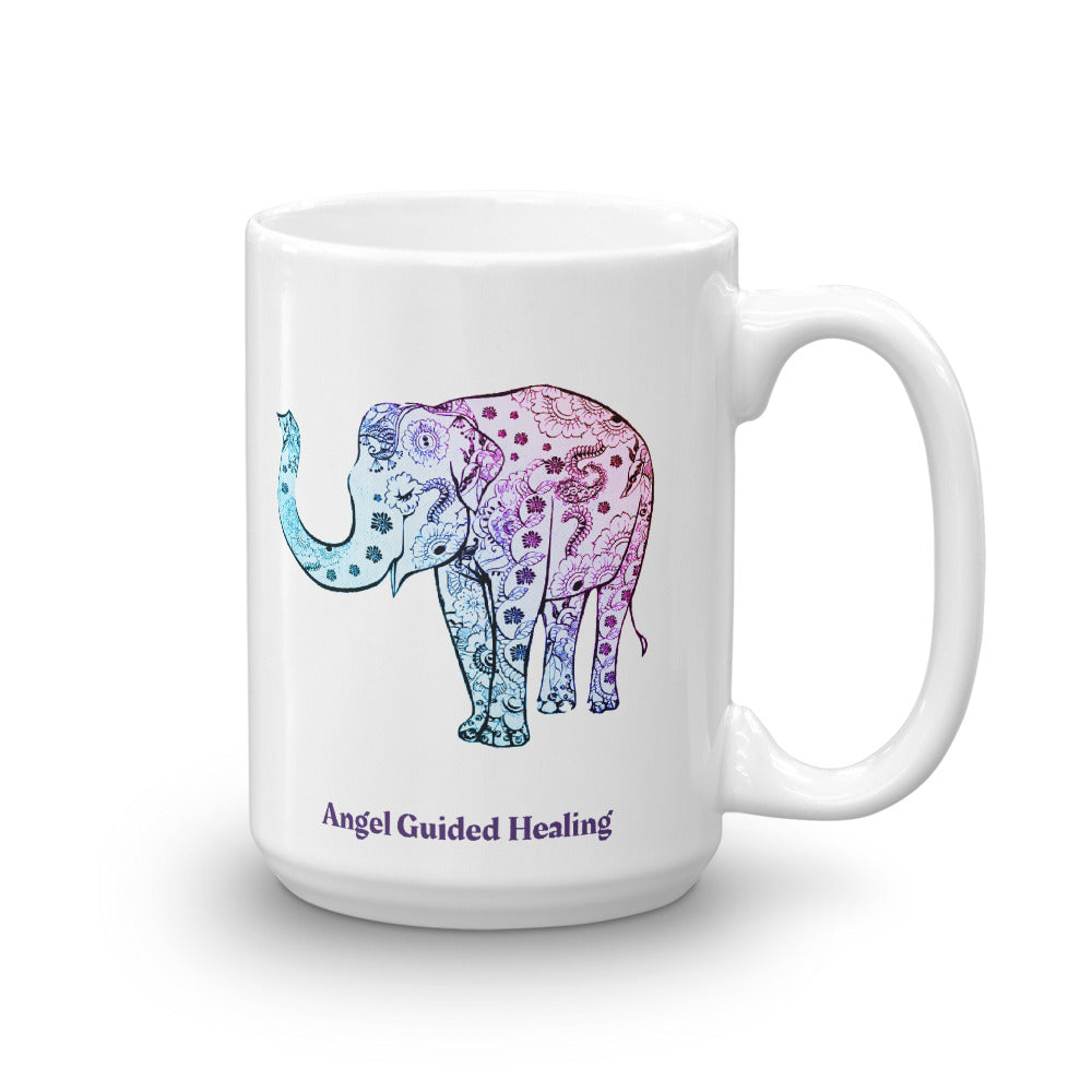 1 - Angel Guided Healing - Henna Elephant Mug