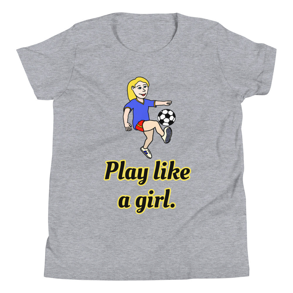 Y3 - Play like a girl Soccer Youth Short Sleeve T-Shirt