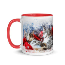 Load image into Gallery viewer, Cat Holiday Mug with Color Inside
