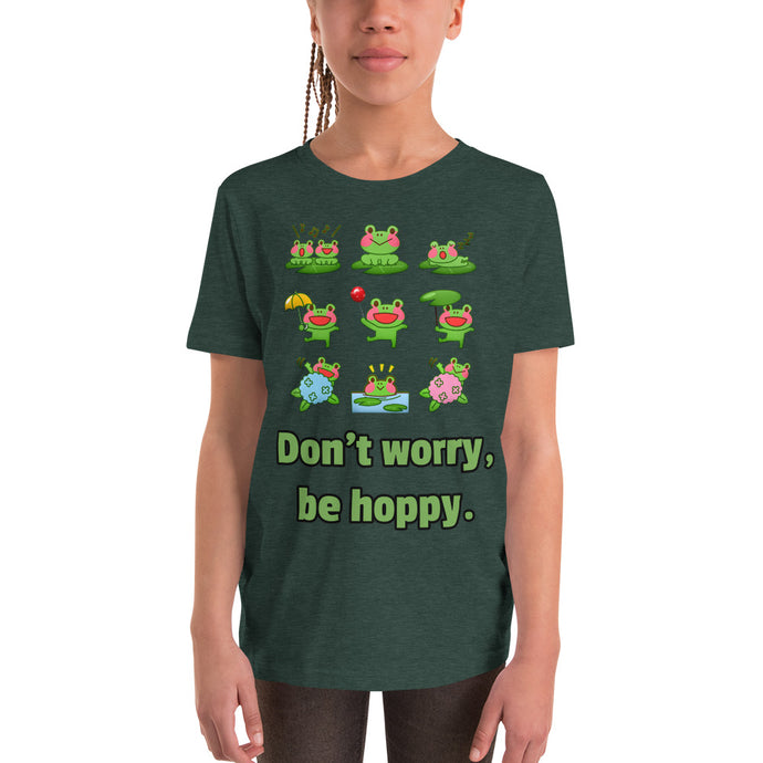 Y11 - Don't worry be hoppy Youth Short Sleeve T-Shirt