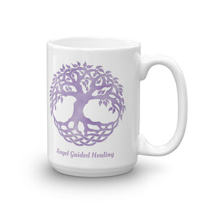 1 - Angel Guided Healing - Lavender Tree of Life Mug