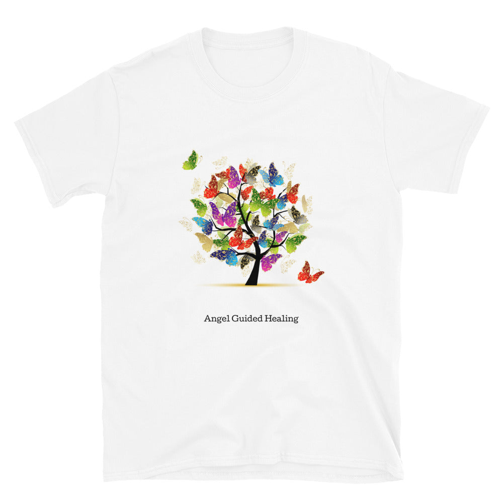 Angel Guided Healing - Tree of Life Butterflies Short-Sleeve Unisex T-Shirt