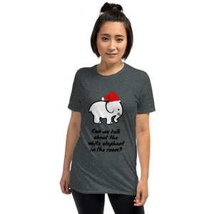 H - Funny White Elephant Christmas Short-Sleeve Unisex T-Shirt