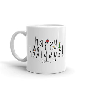 H - happy holidays Mug