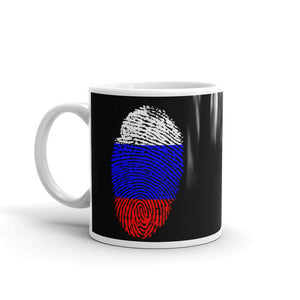 F10 - Russian Flag Fingerprint Mug