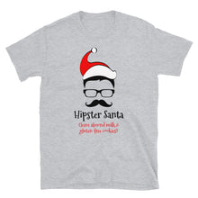 Load image into Gallery viewer, H - Hipster Santa Short-Sleeve Unisex T-Shirt