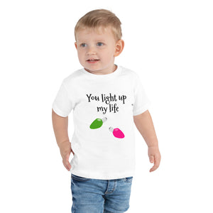 HYA - You Light Up my Life Cute Holiday Toddler Short Sleeve Tee