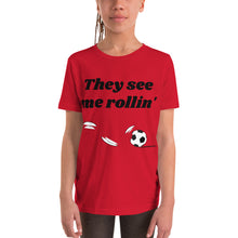 Load image into Gallery viewer, Y3 - They See Me Rollin' Soccer Youth Short Sleeve T-Shirt