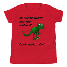 Load image into Gallery viewer, Y1 - T-Rex Dinosaur Funny Youth Short Sleeve T-Shirt