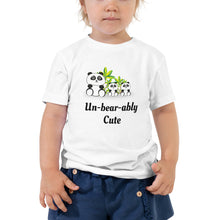 Load image into Gallery viewer, X4 - Unbearably Cute Toddler Short Sleeve Tee