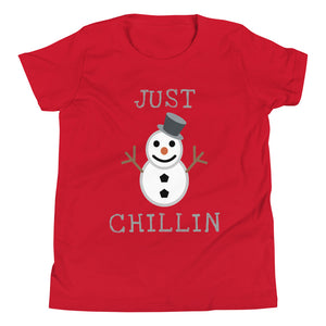 Y - Just Chillin Snowman Youth Short Sleeve T-Shirt
