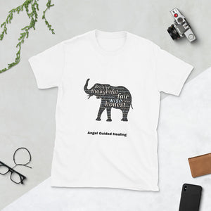 Angel Guided Healing - Elephant words Short-Sleeve Unisex T-Shirt