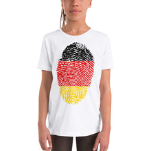 Load image into Gallery viewer, F5 - German Flag Fingerprint Youth Short Sleeve T-Shirt