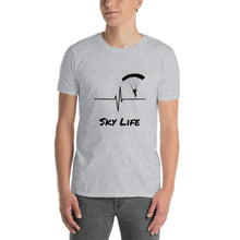 Load image into Gallery viewer, D7 - Sky Life Heartbeat Skydiving Short-Sleeve Unisex T-Shirt