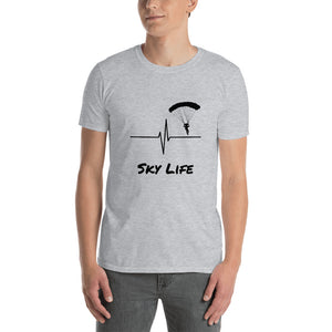 D7 - Sky Life Heartbeat Skydiving Short-Sleeve Unisex T-Shirt