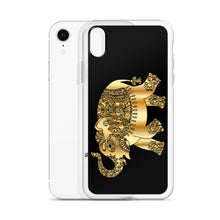 Load image into Gallery viewer, D5 - Golden Patchwork Elephant iPhone Case