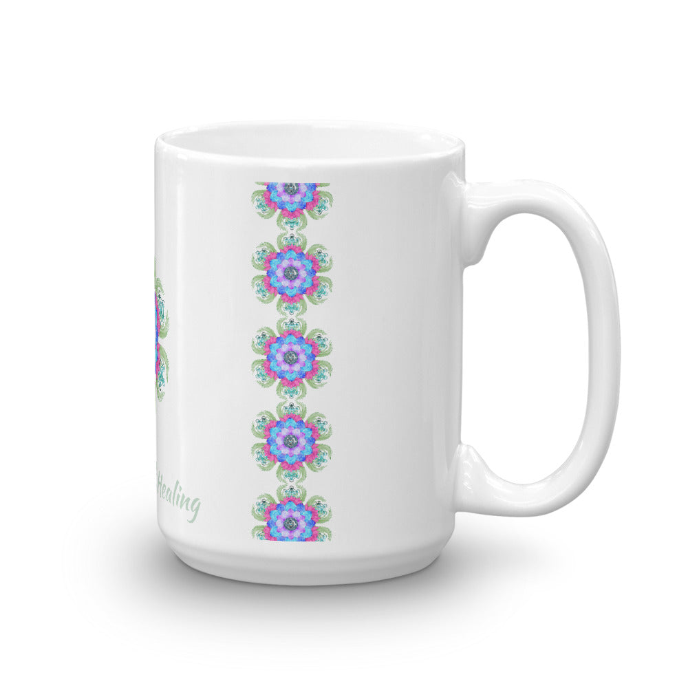 1- Angel Guided Healing - Lotus Bird Pattern Mug